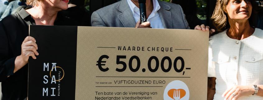 € 50.000,- voor de voedselbank - Masami